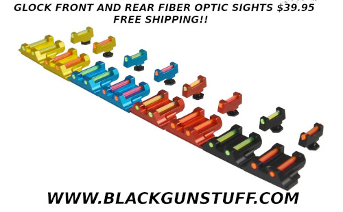 glock fiber optic sights $29.95