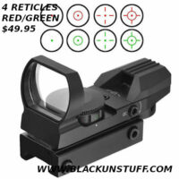4 RETICLE RED DOT