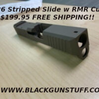 Glock 19 with front and rear serrations with RMR optic cut out - Made from 416 stainless steel Fits glock gen 1,2,3 Fits on glock or poly 80 frames to be used with Glock 19 parts Tungsten silver Cerokote heat treated Made in the USA RMR- can be used with trijicon, holoson , swamp fox etc. 6/32 threat pattern - screws not included MSRP $249